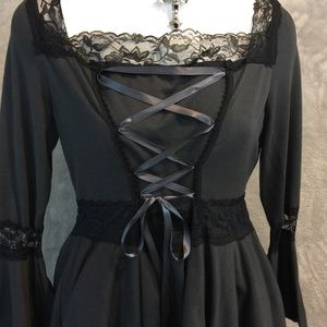 NWOT Gray Gothic Top